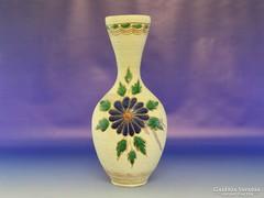 0H438 Nagyméretű virágos kerámia váza 32.5 cm