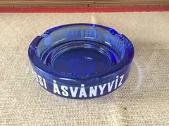 Ritka kék Margitszigeti Ásványvíz hamutartó