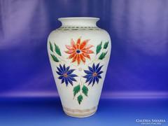 0H346 Nagyméretű virágos kerámia váza 39 cm