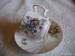 Zsolnay  antik  mokkás csésze ,alátéttel  az 1800 évekből  , masszába nyomott  jelzéssel