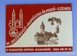 0H068 Szegedi országos autóstalálkozó plakett 1966