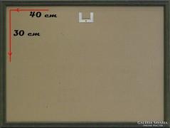 0H093 Modern zöld képkeret üveglappal 30 x 40 cm