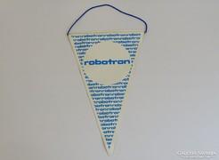 0H140 Retro ROBOTRON reklám relikvia zászló