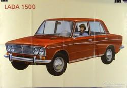0H156 Retro LADA 1500 reklám plakát 67 x 97 cm