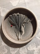 Iparművészeti, jelzett kerámia falitál - art ceramic bowl (79)