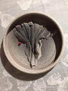 Iparművészeti, jelzett kerámia falitál - art ceramic bowl