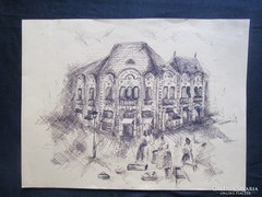 JUDAIKA WEISZ áruház tus rajz FLÓRIAN TÉR 1908