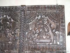 Antik Indiai ganésa autentikus oltár kép