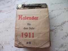 Antik naptár 1911-es.Német