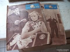 Antik újság eladó!  Ország Világ 1957.11.26,1958.01.29
