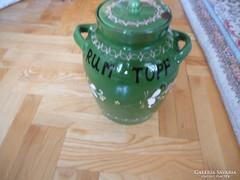 Rumos gyümölcs érlelő kerámia edény Rumtopf