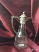 Karaffa ezüst fogó és kiöntő rész