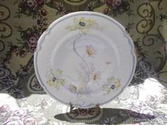 Kézzel festett, szecessziós tányér
