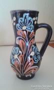 Kerámia füles váza - 12 cm