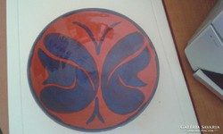 Lepke mintás kerámia tányér - 19,5 cm