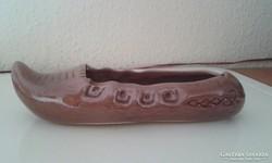 Kerámia mokkaszín/papucs - 16cm