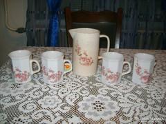 Barackvirágos teás készlet 1 + 3 + 1 darab