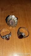Ezüst gyűrűk gránát ametiszt rózsakvarc