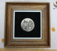 Jeruzsálem kép , ezüstkép ,plakett keretezve