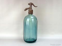 0G719 Régi feliratos zöld szódásüveg VETŐ 1934