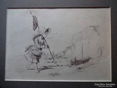 Lucien Francois Penet 1888  Jelzett litográfia
