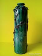 Pápai Kata Szecessziós majolika kerámia 28,5 cm