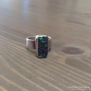 Régi ezüst gyűrű valódi ausztrál opállal