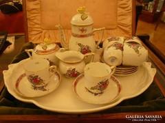 Színes Apponyi mintás herendi mokkás / kávés készlet