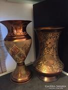 Gyönyörű díszes váza rézötvözet 2db