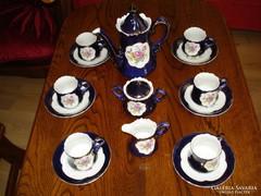 Gráf von Henneberg antik echt kobalt kávés-teás készlet