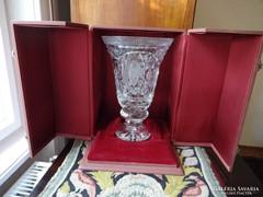 SZOCREÁL , Magyar Néphadsereg ,relikvia .kristály váza.