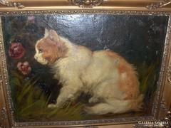 Pfeifer Elek festmény : Cica c.