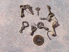 Mini kulcs ,8 db