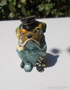 Ritka gyűjtői Toms Drag Dog Madame Angol Buldog figura
