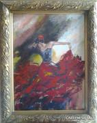 Táncosnő  6. c. festmény