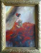 Táncosnő 7. c. festmény