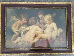 Festmény A négy puttó, olaj/karton
