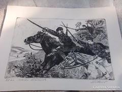 Szocreál -Vörös huszárok 40x28 cm plakát
