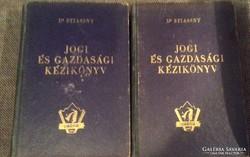 Dr Stiassny Jogi és gazdasági kèzikönyv I-II