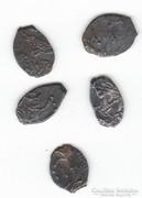 Oroszország, XVI-XVII.sz. kopekek és dengák (3).