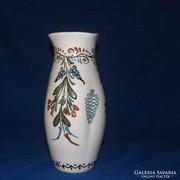 Antik népművészeti váza 28 cm gyönyörű darab