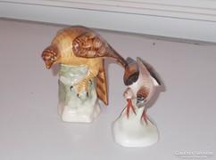 2 darab nagyon szép  kerámia madár figura