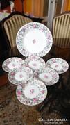 Crown Staffordshire Thousend Flowers süteményes készlet