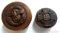 II.Világháborús Naci wehrmacht dohány szelence