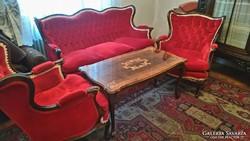 Eladó ülőgarnitúra+asztal