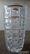 Gyönyörű nagyméretű csiszolt ólomkristály váza ÚJ!