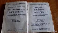 Schenk zsebszótár, magyar-német, német-magyar  1915