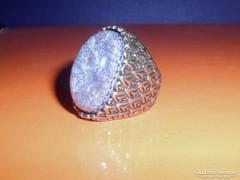 Tekintélyes Muránoi üveg díszes ötvös Gyűrű