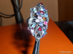 Régi tekintélyes Multicolor kr. Tibeti ezüst ötvös Gyűrű