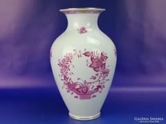 0H749 Indiai kosaras herendi porcelán váza 23.5 cm
